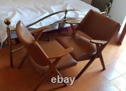 Mid century Pair Lounge chairs Danish Hans Wegner Scandinavian 1950s
