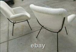Mid century Pair Lounge chairs by ISA Bergamo Gastone Rinaldi italy 1950s