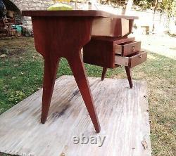 Mid century Vintage Italian Gio Ponti writing Desk Ico Parisi italy 1950s
