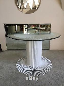Mid century modern 1970s italy White dining table italian vintage
