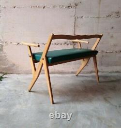 Mid century small sofa maple wood Gio Ponti Ico Parisi italy 1950s