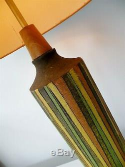 Monumental Aldo Londi Milano Moderno Bitossi Italian Pottery Table Lamp Raymor