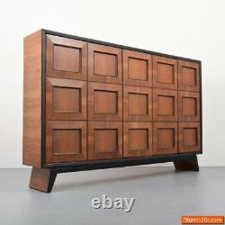 Monumental Mahogany Osvaldo Borsani Bookcase/Cabinet/Dresser Circa 1945, Rare