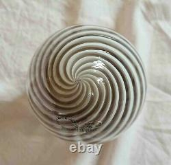 Murano Small Glass Egg Lamp, Vetri Murano, 15cm, Spiral Pattern, Made in Italy