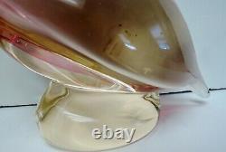Murano art Glass ATTR Elio Raffaeli signed OGGETTI ITALY Pelican Fish in Beak