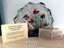 NEW Murano Art Glass Fish Aquarium Glass Sculpture 1950s Barbini Cenedese Style
