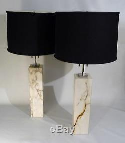 Pair Italian Adjustable Brass MID Century Cone Form Wall Sconce Lights Lamps