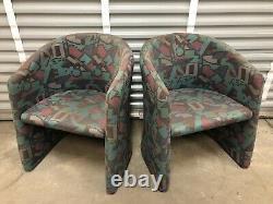 Pair Of Post Mid Century Modern Designer Giovanni Erba Italian Side Chairs