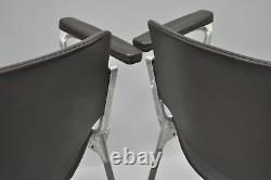 Pair of Giancarlo Piretti for Castelli Arm Chairs Italian Mid Century Modern Vtg