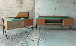 RARE MID CENTURY GIO PONTI ICO PARISI CABINET BAR Italy 1950s
