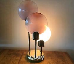 RARE Mid-Century Glass MURANO ITALY TABLE LAMP VISTOSI 25 INCHES TALL
