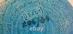 RARE Mid Century Modern ALDO LONDI BITOSSI Italy SAFETY PIN VASE Bowl Lava Blue
