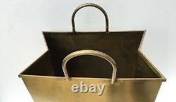 RARE Sarreid Italian Brass Bag Sculpture Mid Century Modern Hollywood Regency