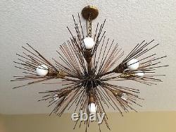 Rare 1950s Sputnik Starburst Chandelier