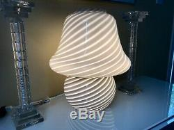Rare 2 Tone Grey Mid-century Modernist Murano Mushroom Lamp Glass