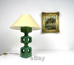 Rare Huge Vintage Italian Genuine Alabaster Table Lamp MID Century Stilnovo