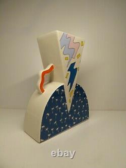 Rare Large Ceramic Vase By Studio Lampo Memphis Style Ettore Sottsass Italy 1980