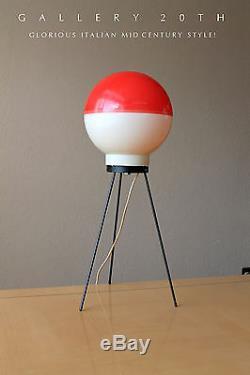 Rare! MID Century Modern Atomic Table Lamp! Italian Arredoluce Gio Ponti 50s Vtg