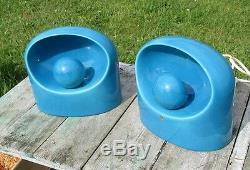 Rare Marcello Cuneo Set Italian Ceramic Table Lamps for Gabbianelli era Sottsass