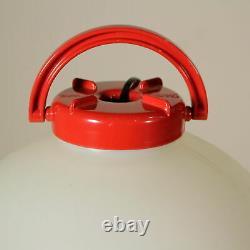 Red Tama Isao Hosoe Italian Pendant Lamp Mid Century Modern Space Age1960s/70s