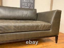 Restoration Hardware (RH) Italia Taper Arm Leather Sofa