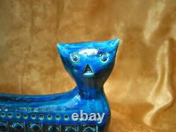 Rimini Blue Cat, Bitossi, designer Aldo Londi, vintage, Mid Century Modern