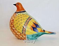 Romano Innocenti Vtg Mid Century Italian Modern Pottery Bird Sculpture Italy
