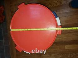 Set of 3 Vintage Kartell era Nesting Tables Mid-mod Eames red white blue