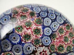 Stunning Vintage Italian Murano Millefiori Cane Art Glass Paperweight