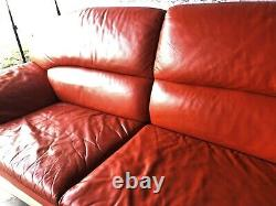 Unique Mid Century Modern Wilma Salotti Leather Couch Italy