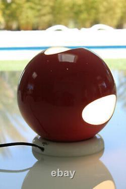 VISO Italian Lamps, Mid Century Modern 60s 70s Design, Space Age Orb Table Lamp