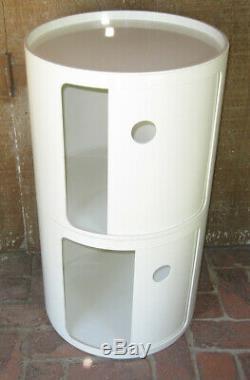 Vintage 1960s Modern Kartell Plastic Storage Table Italy Anna Castelli Binasco