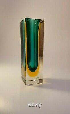 Vintage Bubble Cluster Mandruzzato Multi Sommerso Murano Faceted Art Glass Vase