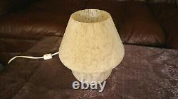 Vintage Cute Mid Century Modern ARTDECO Style WHITE HandBlown ArtGlass Mushroom