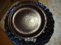 Vintage Empoli Purple Plum Hobnail Glass Genie Bottle Decanter Vase No Stopper