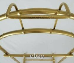 Vintage Gold Metal Bamboo Butler Valet Stand Suit Rack Hollywood Regency MCM