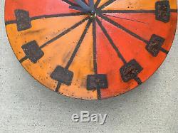 Vintage Howard Miller Meridian Clock Mid Century Pottery Art Italian Modern