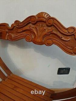 Vintage Italian Folding Wood Chair Savonarola LION HEADS Hand Carved Walnut HOME