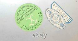 Vintage MID Century Modern Sciolari For Lightolier Chandelier 8 Arm Glass Shades