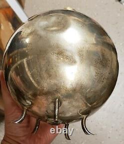 Vintage MID Century Modern Silver Bonwit Teller Orb Vase Sculpture Italian Nyc