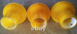 Vintage MID Century Murano Glass Hanging Ceiling Lamp Shade Italy Set Of (3)