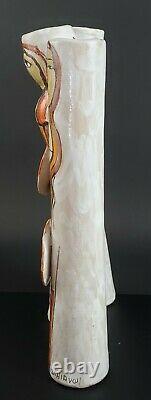 Vintage Mid Century Elio Schiavon Italian Art Pottery Sculpture Figural Vase
