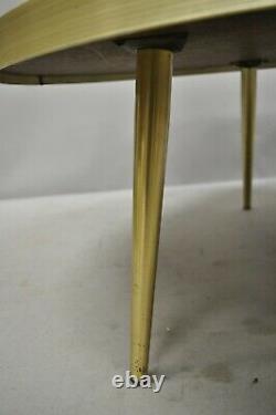 Vintage Mid Century Italian Modern Round Orange Sun Tile Top Coffee Table