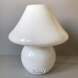 Vintage Mid Century Italy Vetri Murano Art Glass Mushroom Table Lamp
