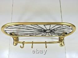Vintage Mid Century SPIDER Brass Wall Coat Hanger Hat Rack 50s Italy Wardrobe