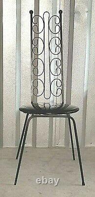 Vintage Pair Iron Mid Century ARTHUR UMANOFF Chairs Grenada Salterini Tempestini