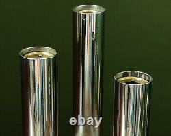 Vintage Retro 1960s Modernist Italian Chrome Tube Table Lamp