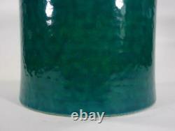 Vintage Retro Italian Bitossi Pottery Vase Rimini Blue Eames Era