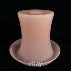 Vintage Retro Italian Murano Large Pink Alabastro Glass Vase Seguso