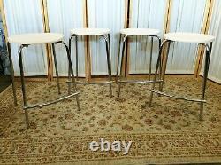 Vtg 1998 Olaf Von Bohr Kartell 4 ISIS Chrome Bar Stools Chairs MCM Italy Seats
